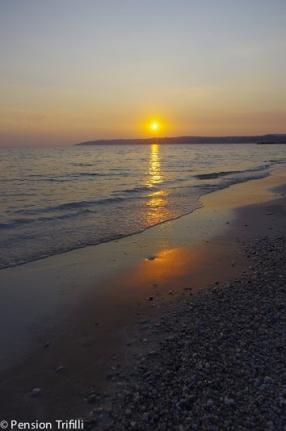 Sonnenuntergang Lourdas Strand